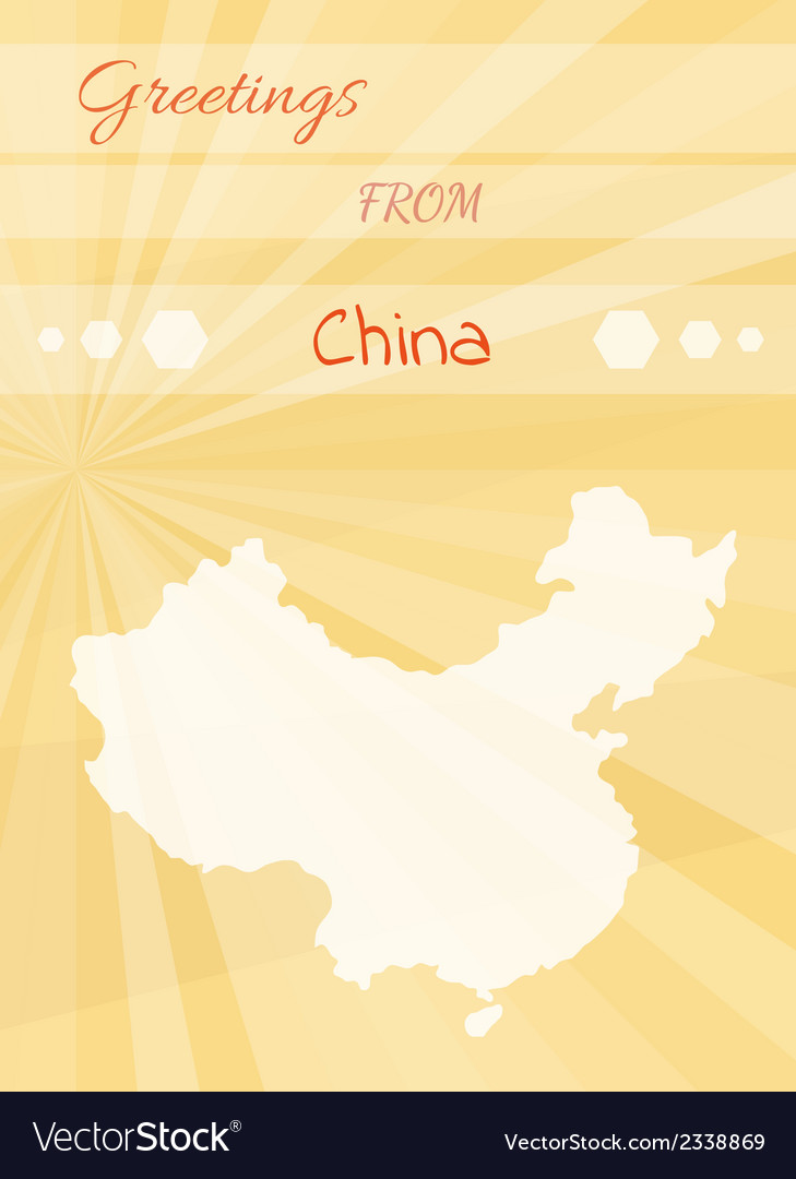 Greetings from china vector | Price: 1 Credit (USD $1)