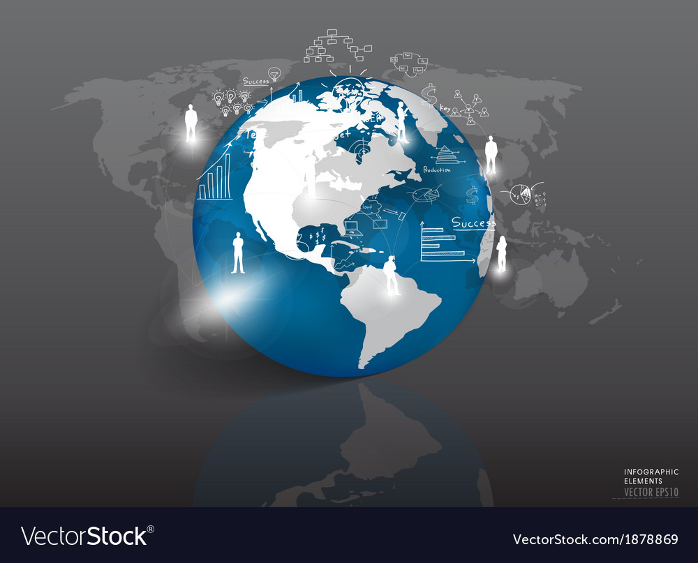 Modern globe with elements of infographics and vector   Price: 1 Credit (USD $1)