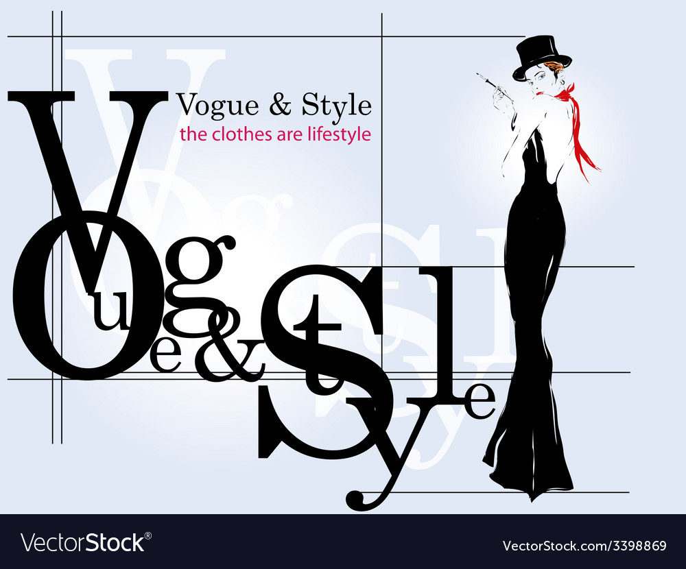 Modern poster girl fashion vector | Price: 1 Credit (USD $1)