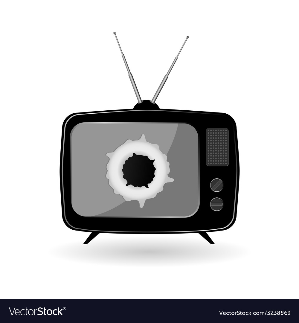 Old black tv vector   Price: 1 Credit (USD $1)