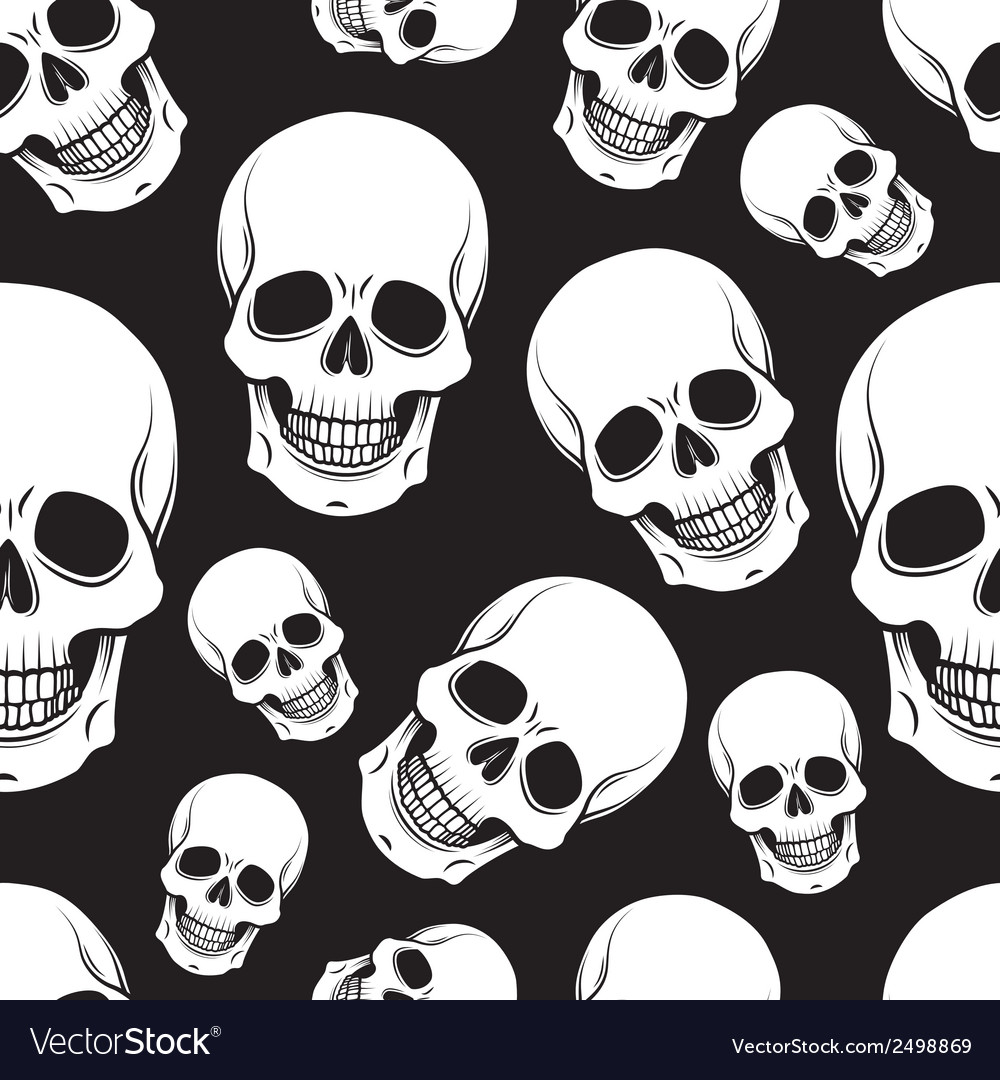 Skull pattern vector | Price: 1 Credit (USD $1)