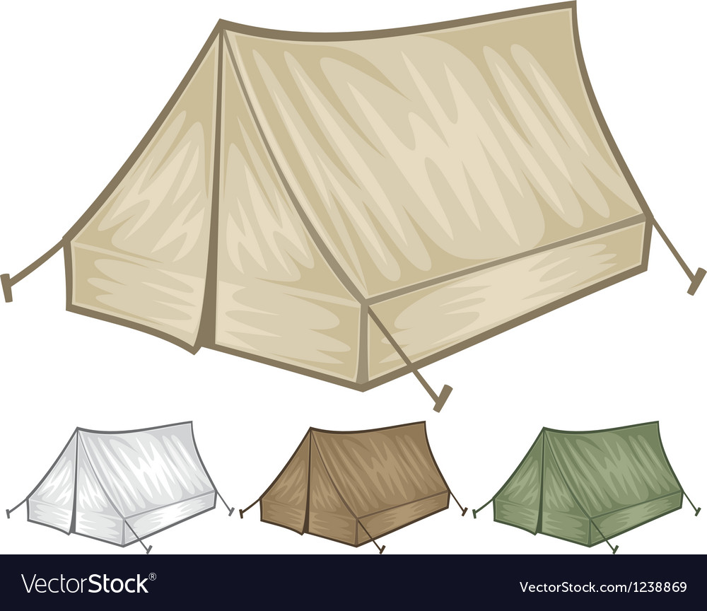 Tourist tent for travel and camping vector | Price: 3 Credit (USD $3)