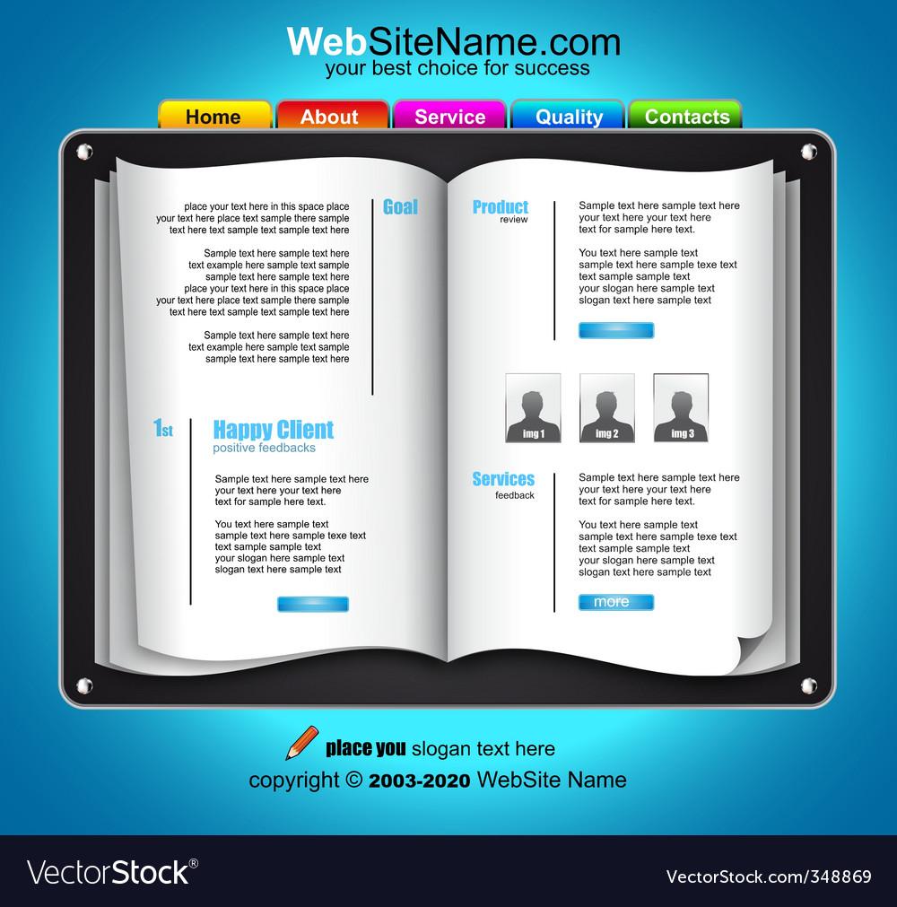 Web design template vector | Price: 3 Credit (USD $3)