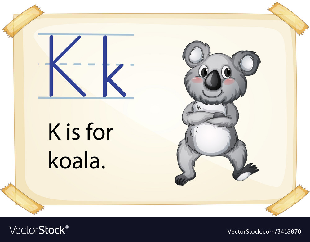 A letter k for koala vector | Price: 1 Credit (USD $1)