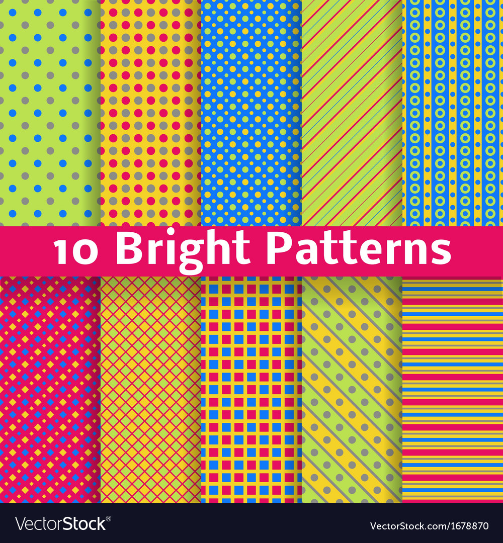 Abstract geometric bright seamless patterns tiling vector | Price: 1 Credit (USD $1)