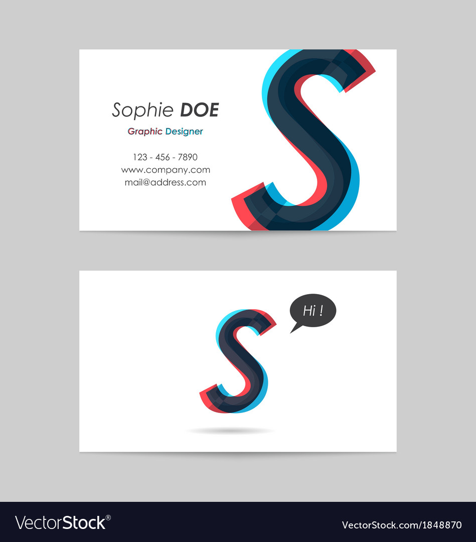 Business card template - letter s vector | Price: 1 Credit (USD $1)