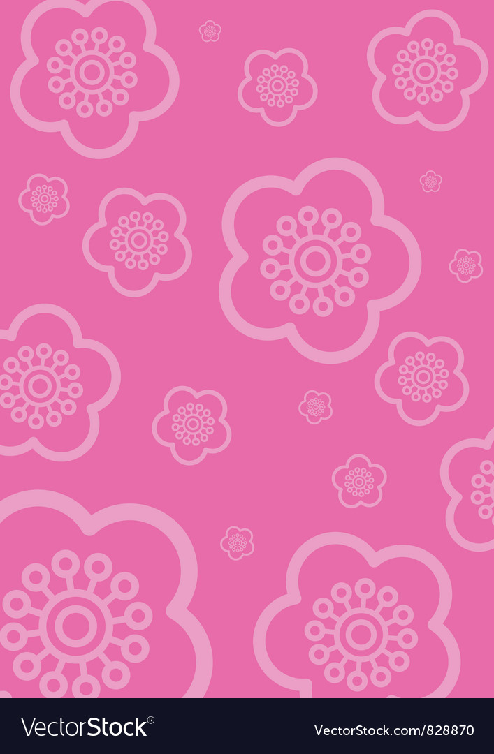 Cherry blossom wallpaper vector | Price: 1 Credit (USD $1)
