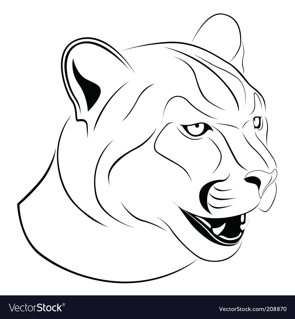 Cougar tattoo vector | Price: 1 Credit (USD $1)