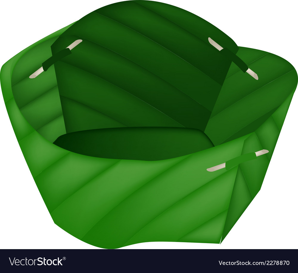 Empty counts banana leaf on white background vector | Price: 1 Credit (USD $1)