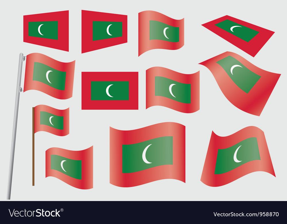 Flag of maldives vector | Price: 1 Credit (USD $1)