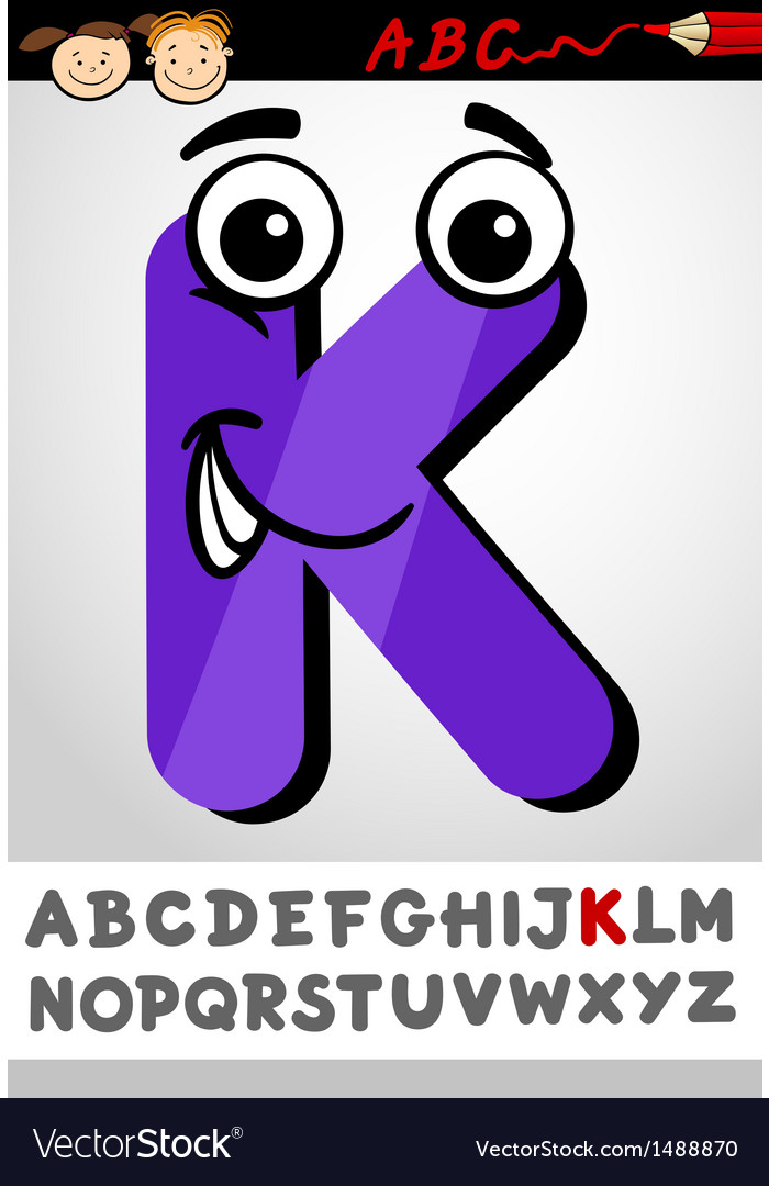 Funny letter k cartoon vector | Price: 1 Credit (USD $1)