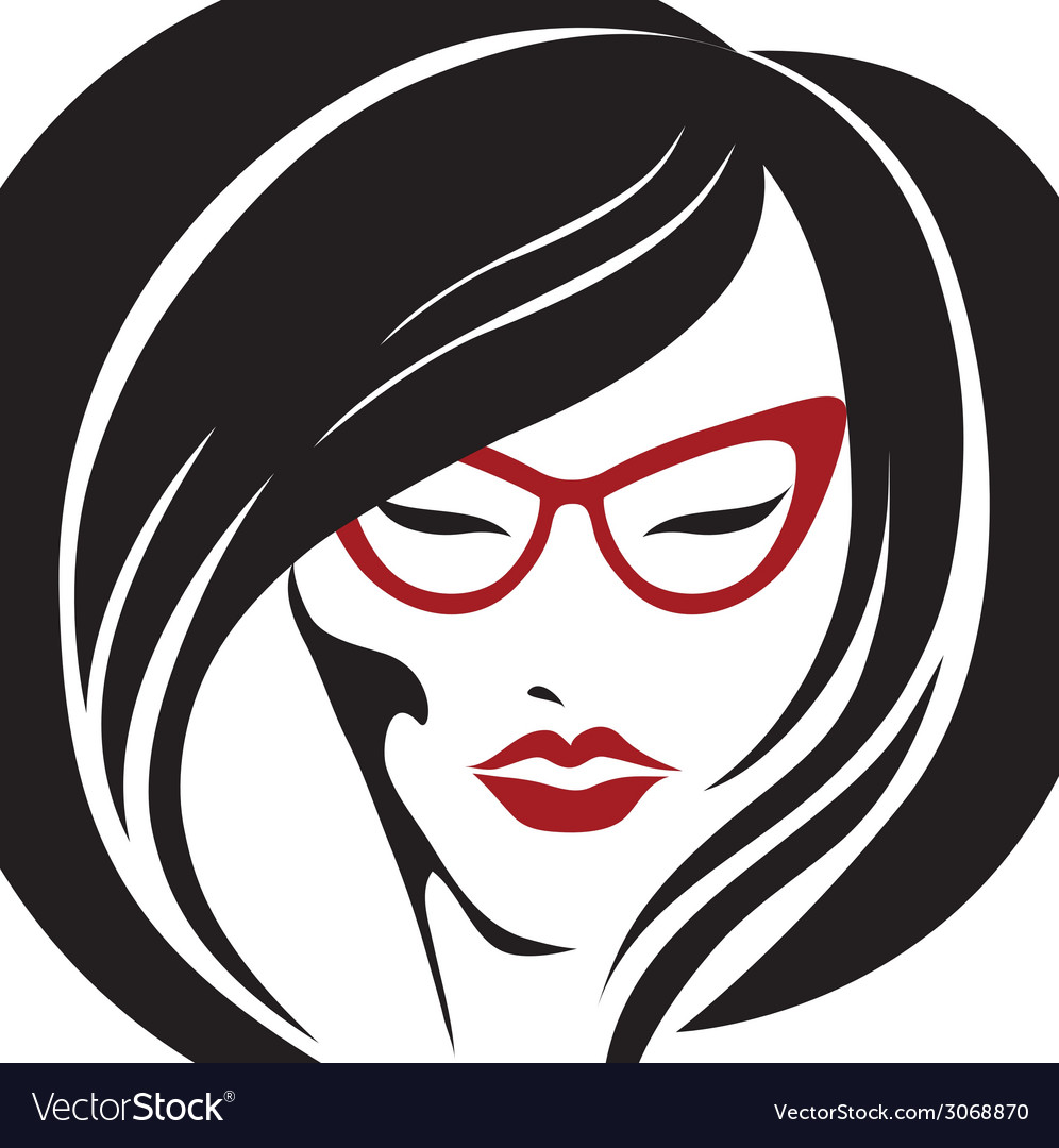 Girl glasses 2 2 vector | Price: 1 Credit (USD $1)