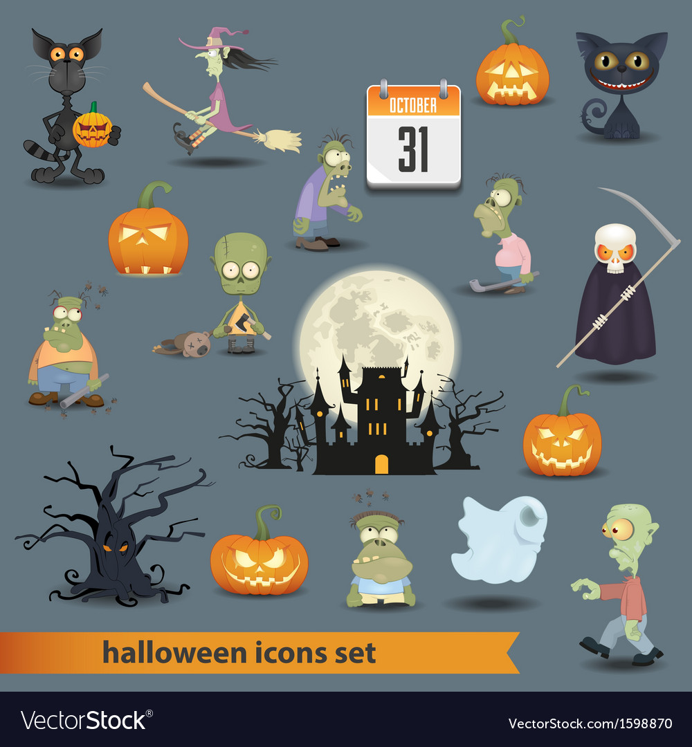 Halloween set 3 vector | Price: 1 Credit (USD $1)