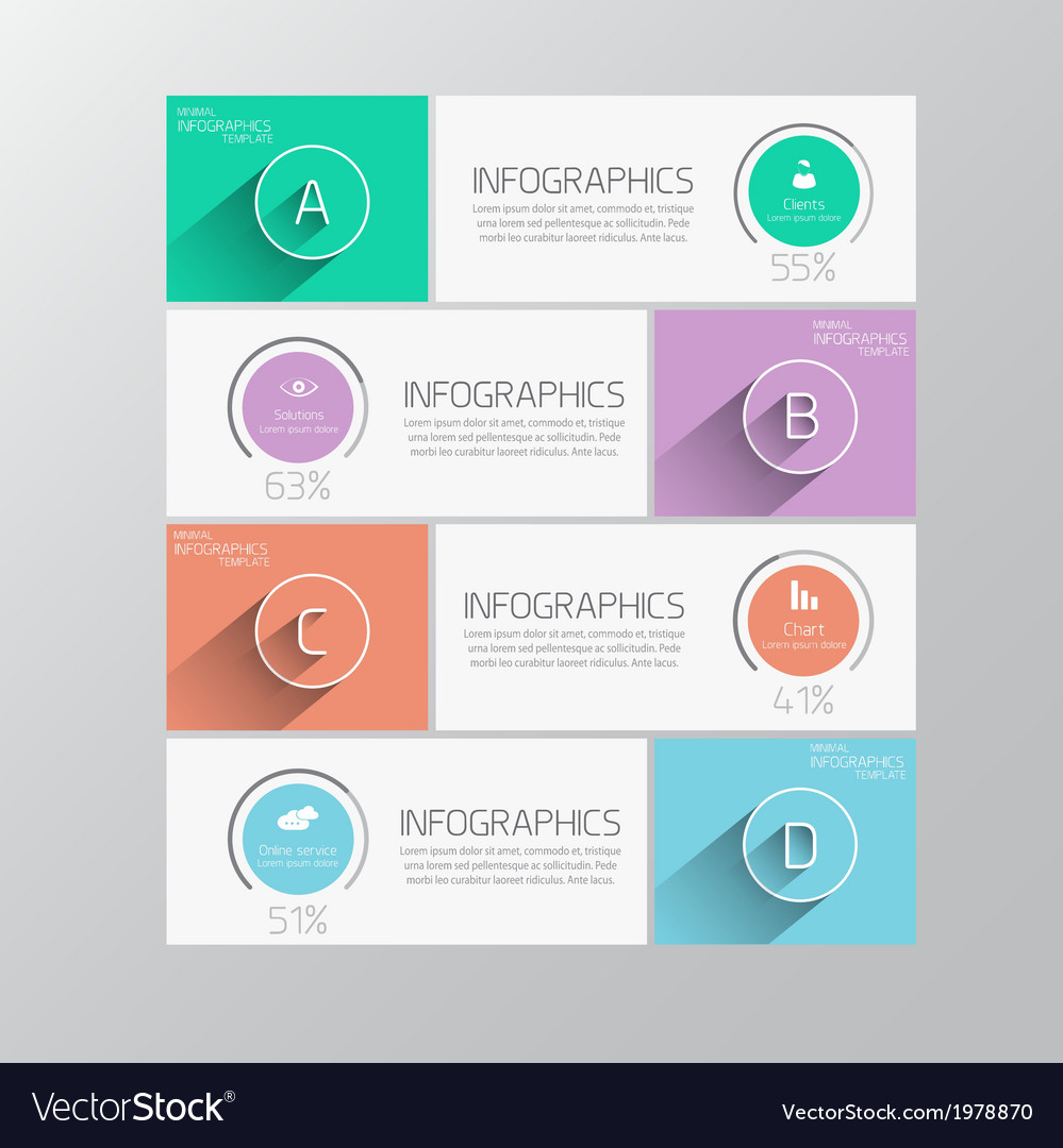 Infographics flat design 2 vector | Price: 1 Credit (USD $1)