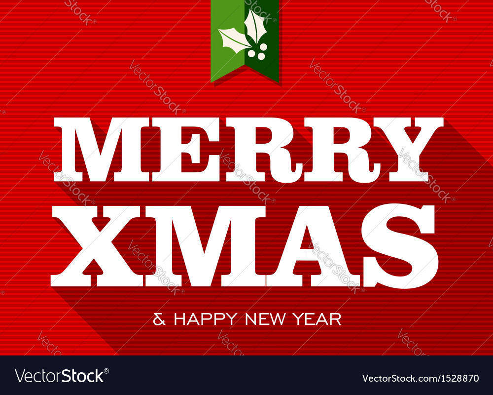 Merry christmas happy new year sign vector | Price: 1 Credit (USD $1)