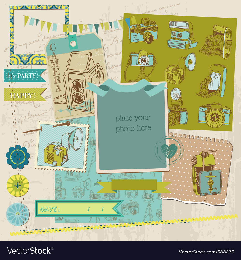 Scrapbook design elements - vintage photo vector | Price: 1 Credit (USD $1)