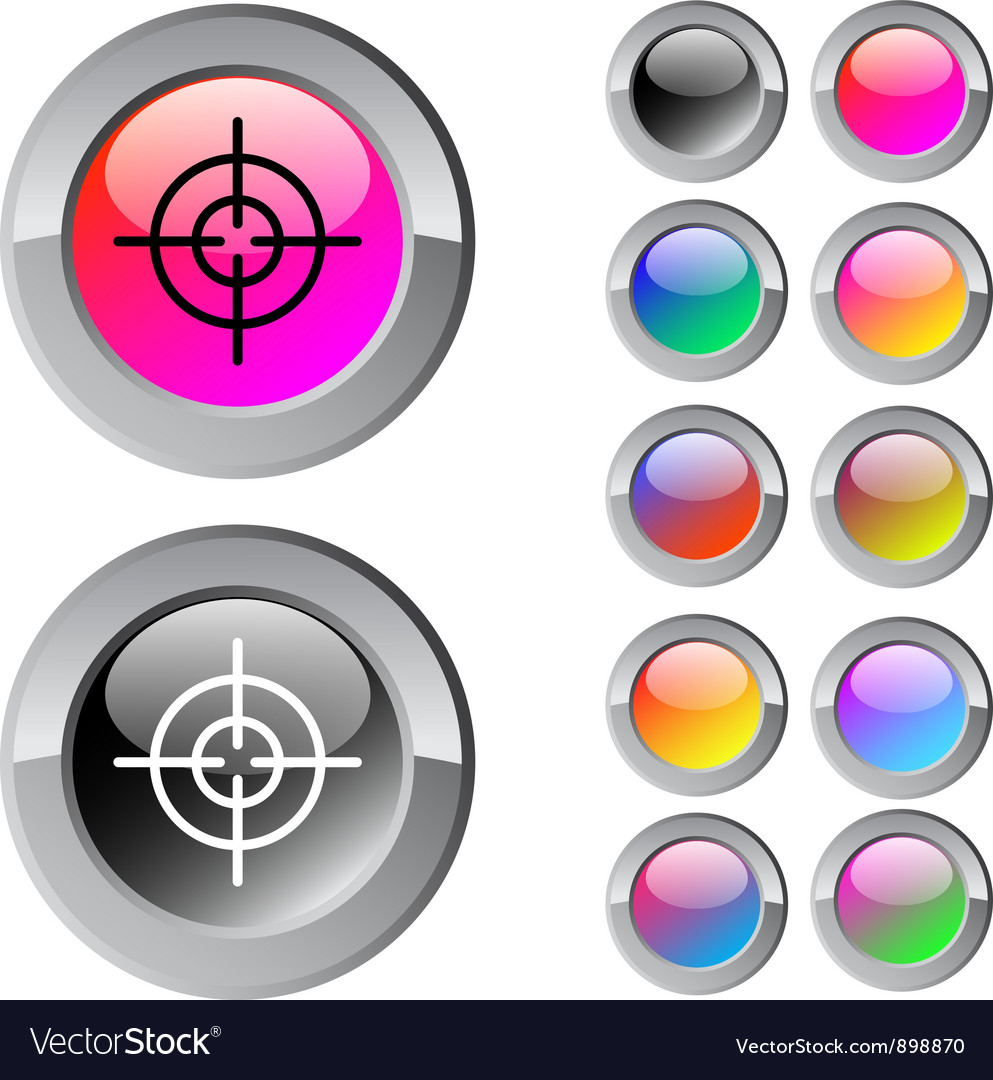 Sight multicolor round button vector | Price: 1 Credit (USD $1)