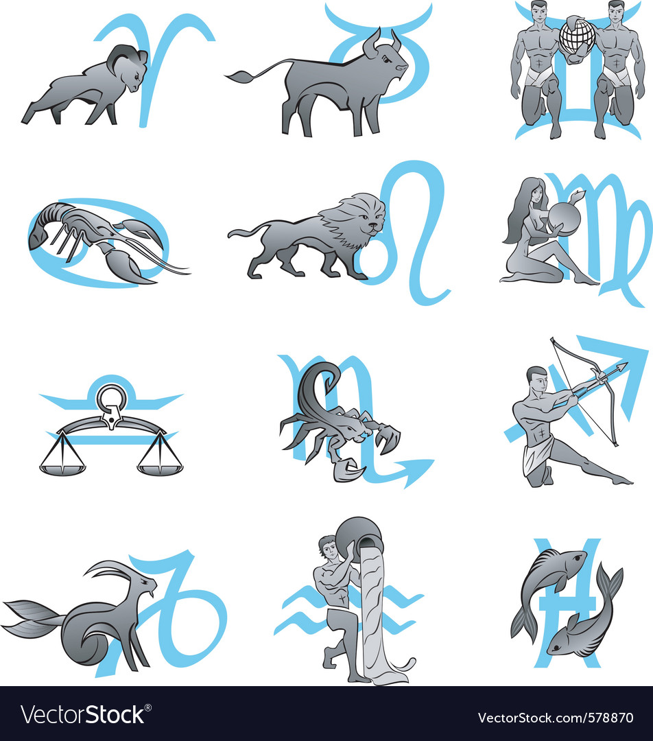 Signs of the zodiac vector   Price: 1 Credit (USD $1)