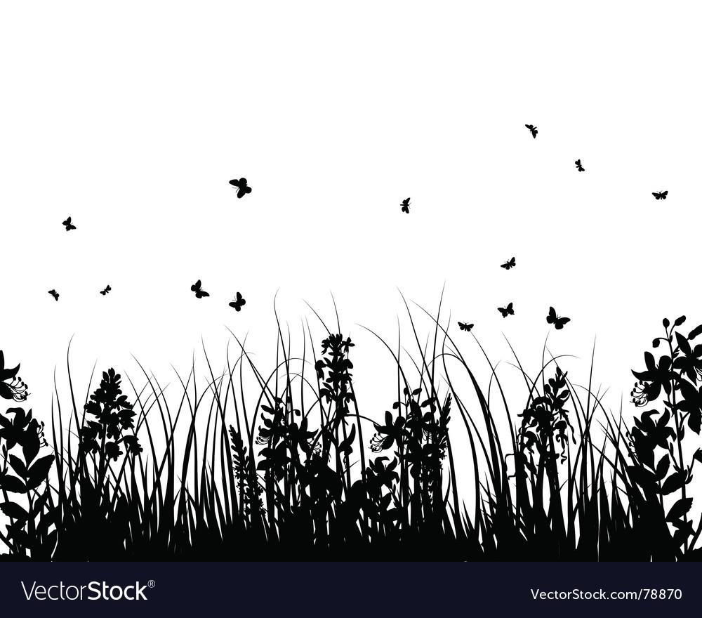 Summer meadow vector | Price: 1 Credit (USD $1)