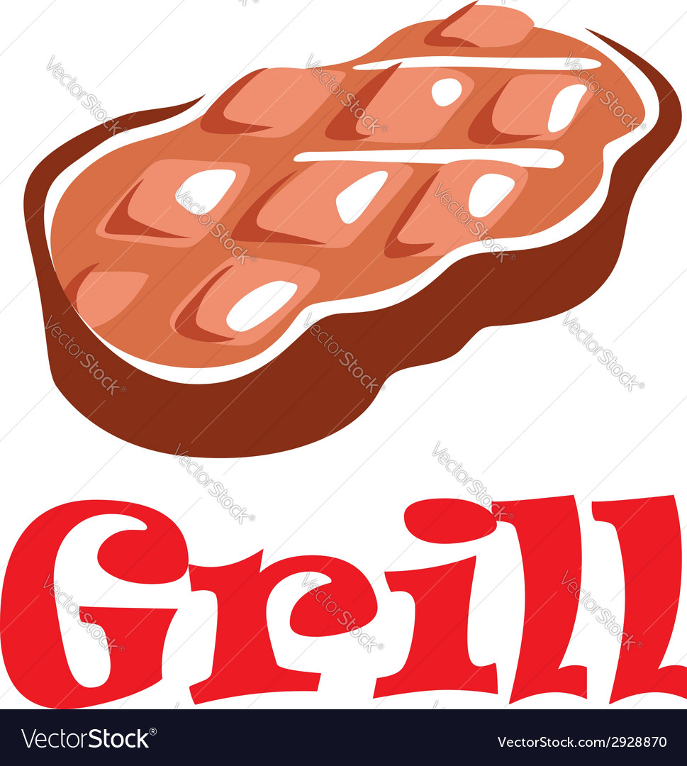 Tasty grill meat vector | Price: 1 Credit (USD $1)