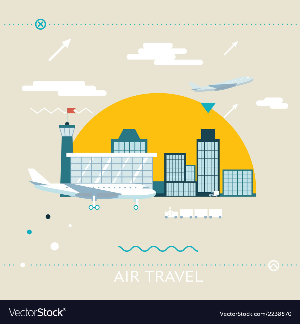Travel lifestyle concept of planning a summer vector | Price: 1 Credit (USD $1)