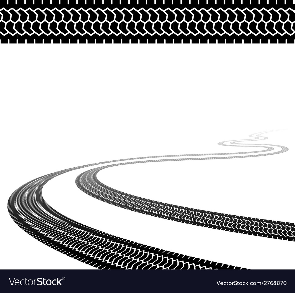 Winding trace of the terrain tyres vector | Price: 1 Credit (USD $1)