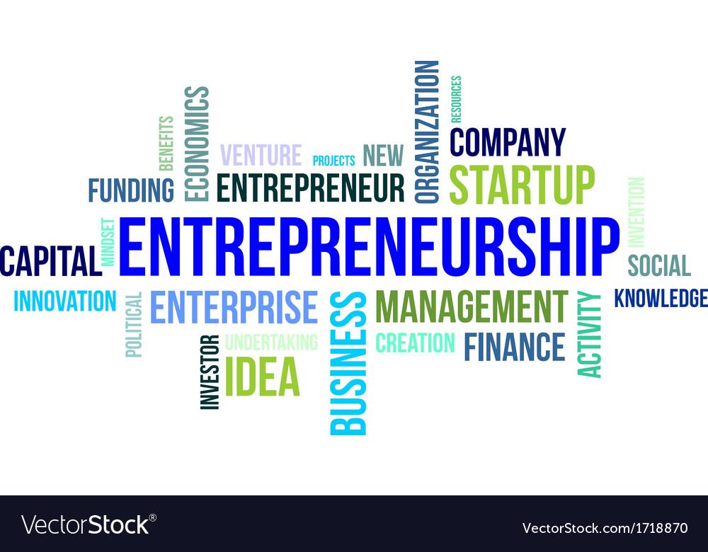 Word cloud entrepreneurship vector | Price: 1 Credit (USD $1)