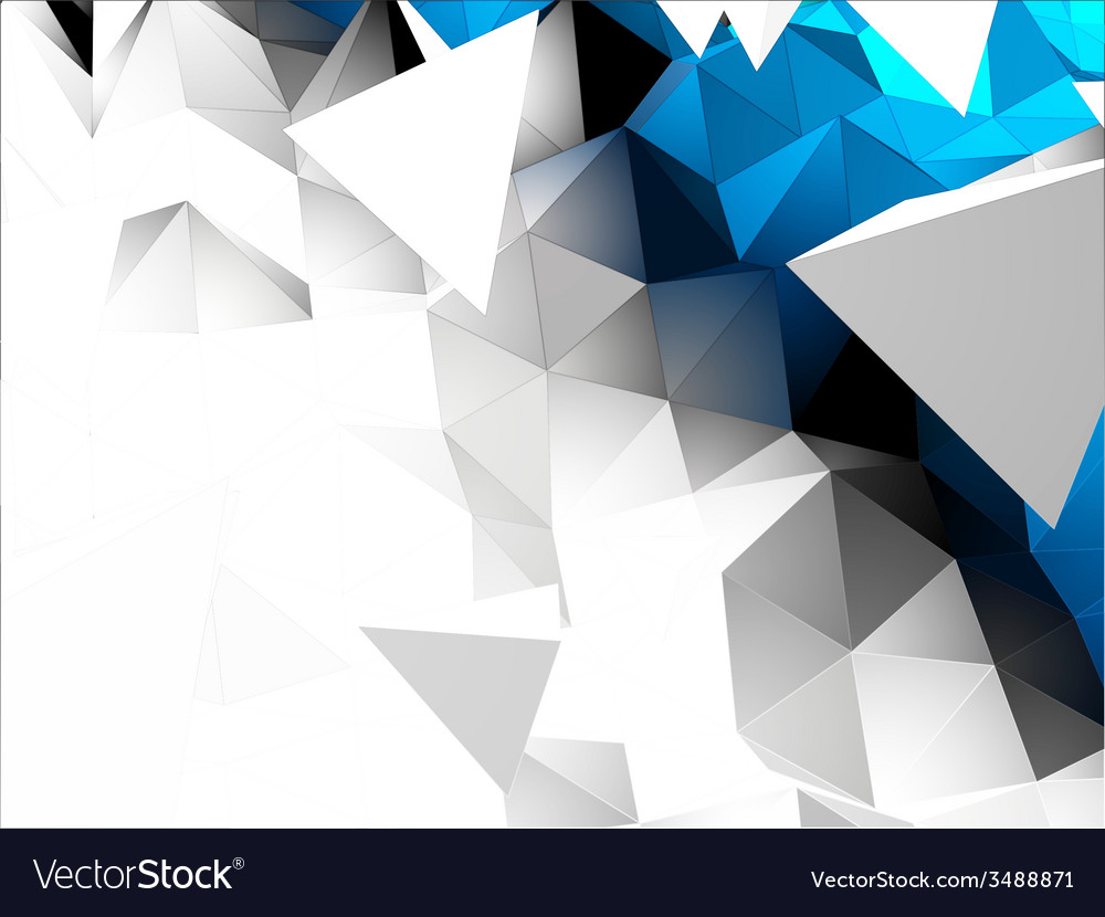 Abstract 3d triangular background vector | Price: 1 Credit (USD $1)