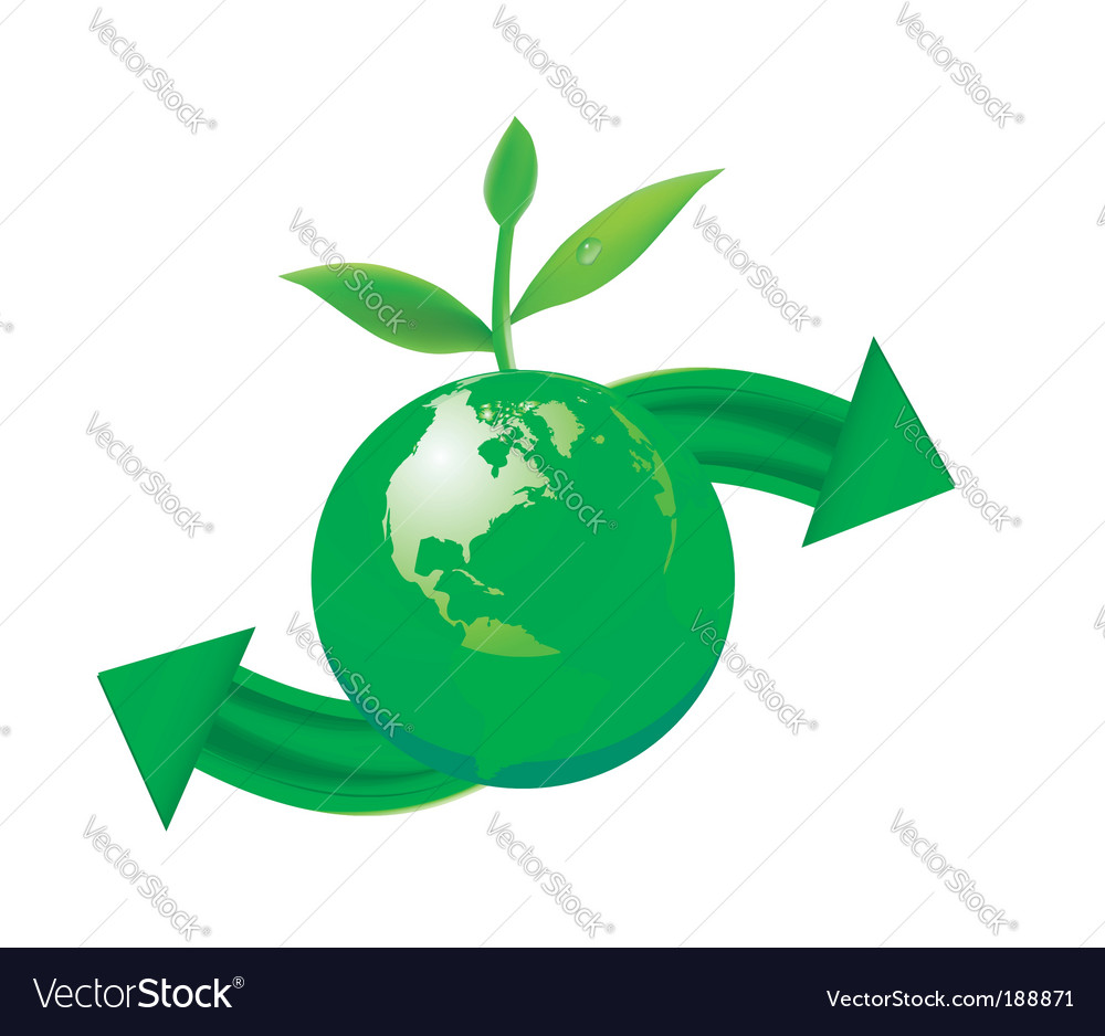 Green globe vector | Price: 1 Credit (USD $1)