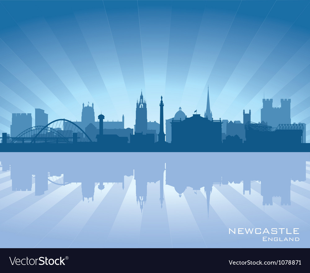 Newcastle england skyline vector | Price: 1 Credit (USD $1)