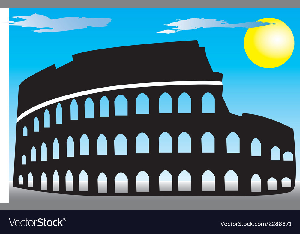 Rome colosseum vector | Price: 1 Credit (USD $1)