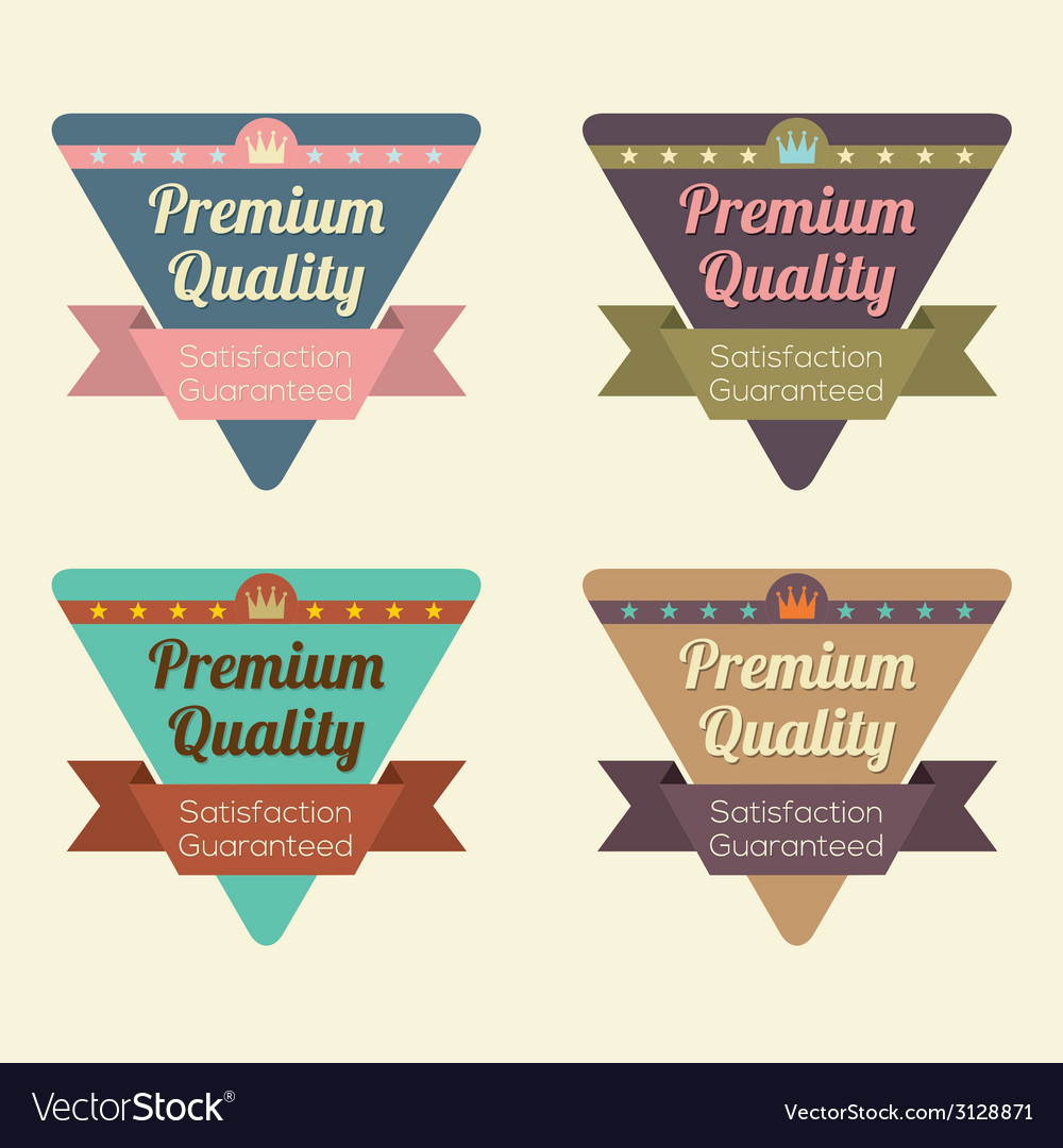 Set of triangle vintage retro badge vector | Price: 1 Credit (USD $1)