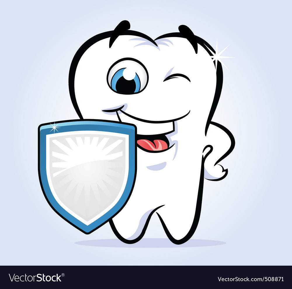Tooth shield safeguard vector | Price: 1 Credit (USD $1)
