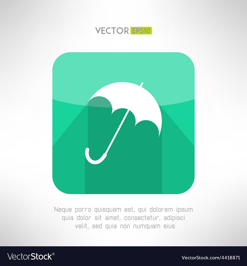Umbrella icon made in modern clean and simple flat vector | Price: 1 Credit (USD $1)