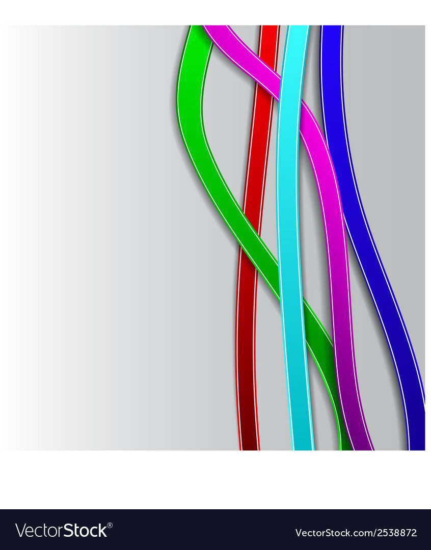 Abstract background with colored lines vector   Price: 1 Credit (USD $1)