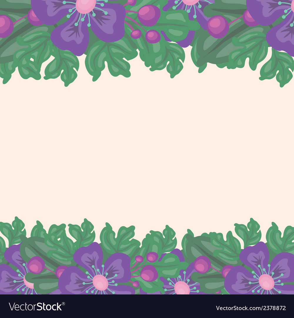 Beautiful floral background with space for text vector | Price: 1 Credit (USD $1)