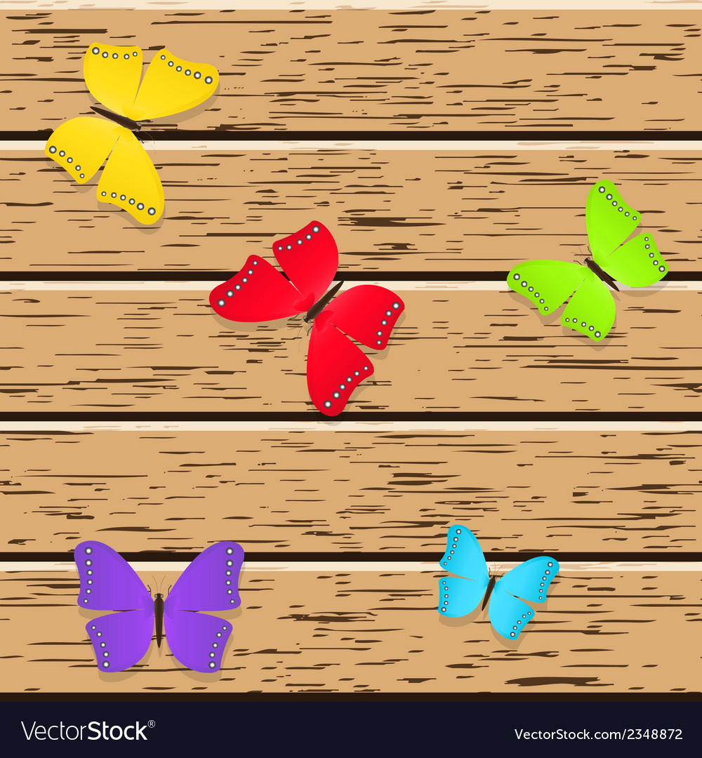 Colored butterflies vector | Price: 1 Credit (USD $1)