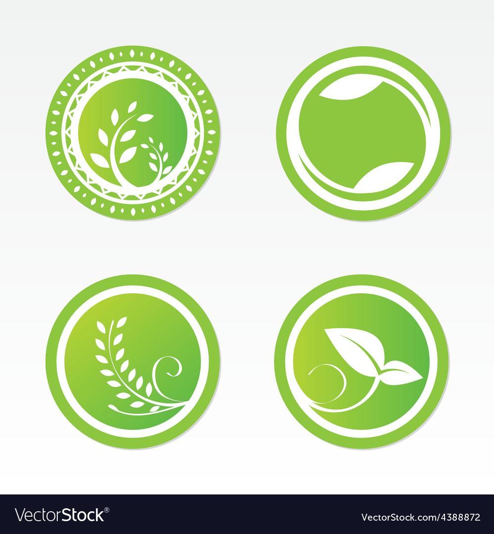 Eco labels vector | Price: 1 Credit (USD $1)