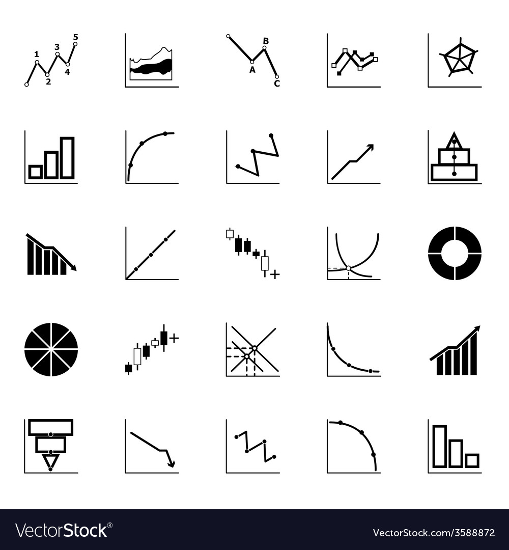 Economic and investment diagram line icon on white vector | Price: 1 Credit (USD $1)