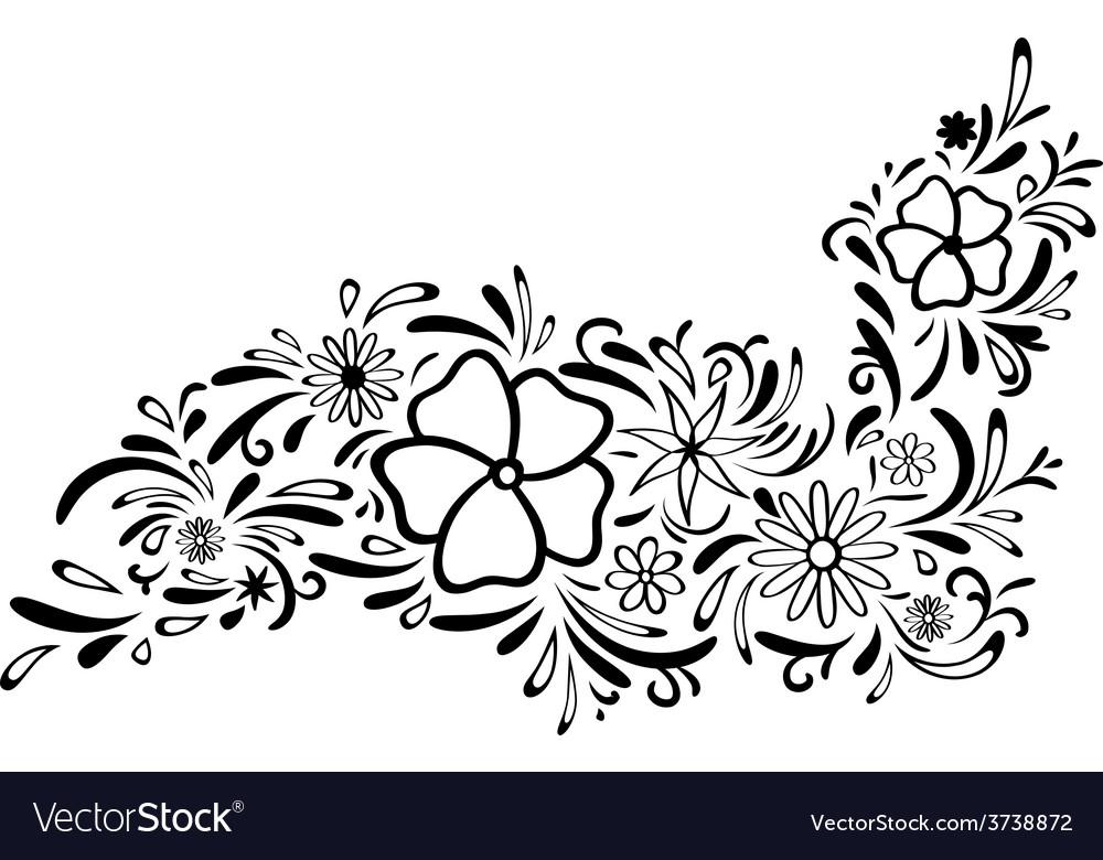 Floral border vector | Price: 1 Credit (USD $1)