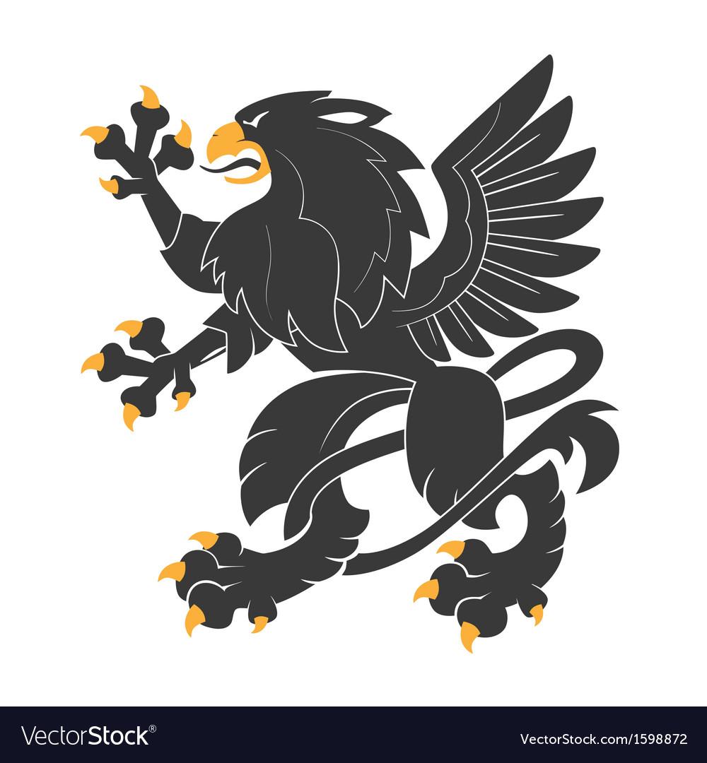 Heraldic griffin7 vector | Price: 1 Credit (USD $1)
