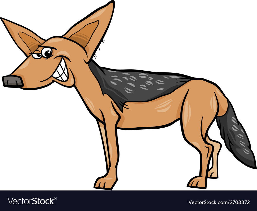 Jackal animal cartoon vector | Price: 1 Credit (USD $1)