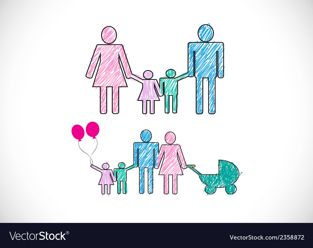 People family icon pictogram people vector | Price: 1 Credit (USD $1)