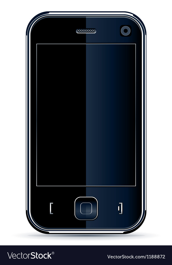 Phone isolated on white vector | Price: 1 Credit (USD $1)