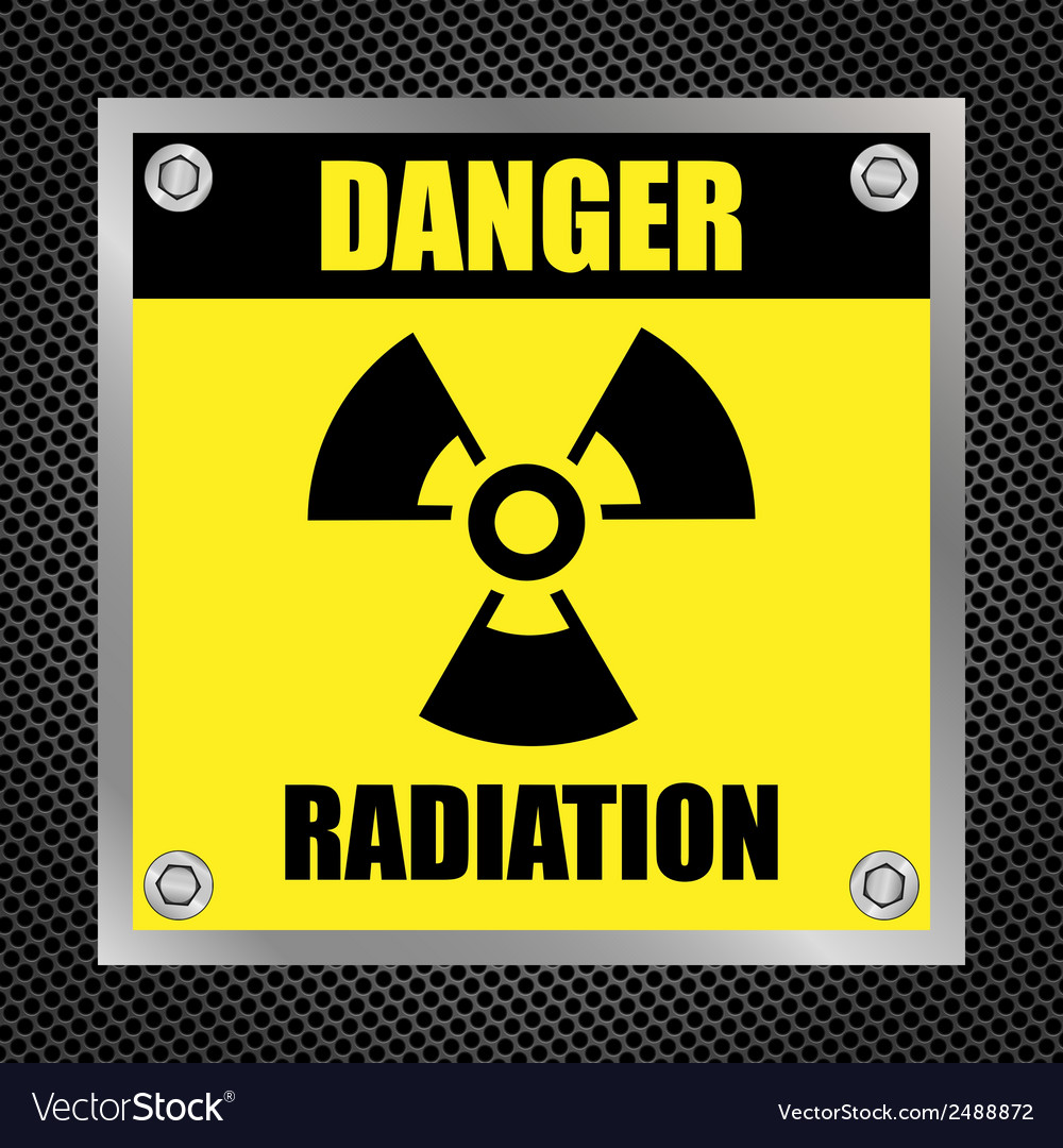 Radioactive hazard sign vector | Price: 1 Credit (USD $1)