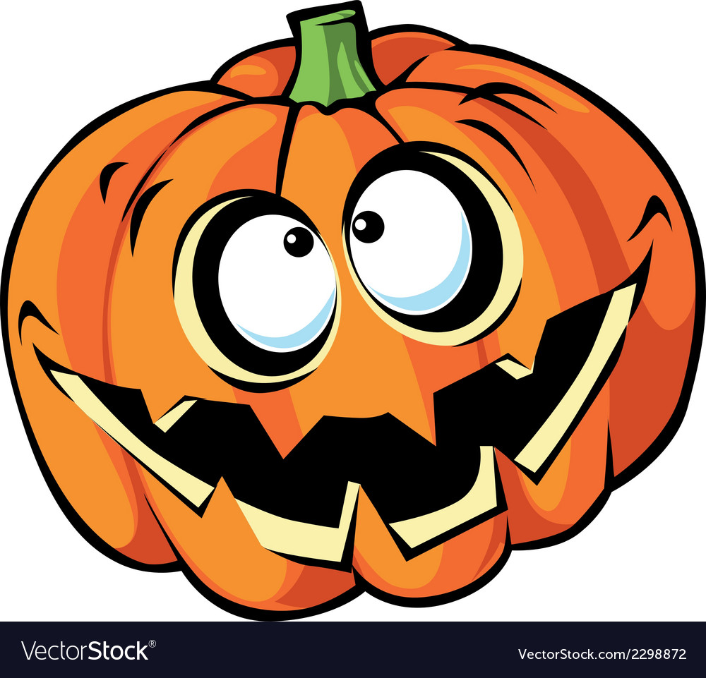 Scary halloween pumpkin cartoon vector | Price: 1 Credit (USD $1)