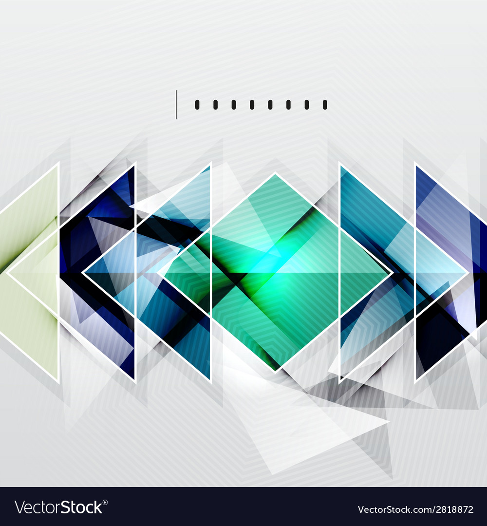 Squares and shadows - tech abstract background vector | Price: 1 Credit (USD $1)
