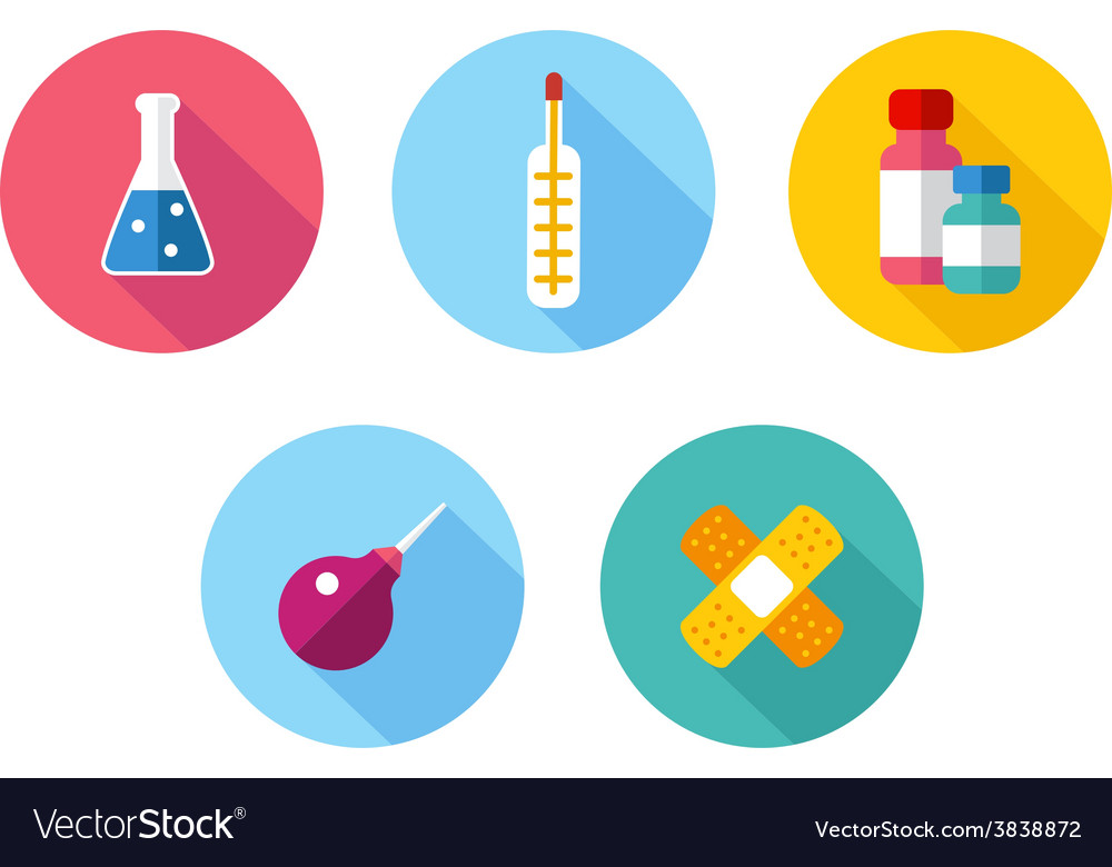 Trendy flat science icons vector   Price: 1 Credit (USD $1)