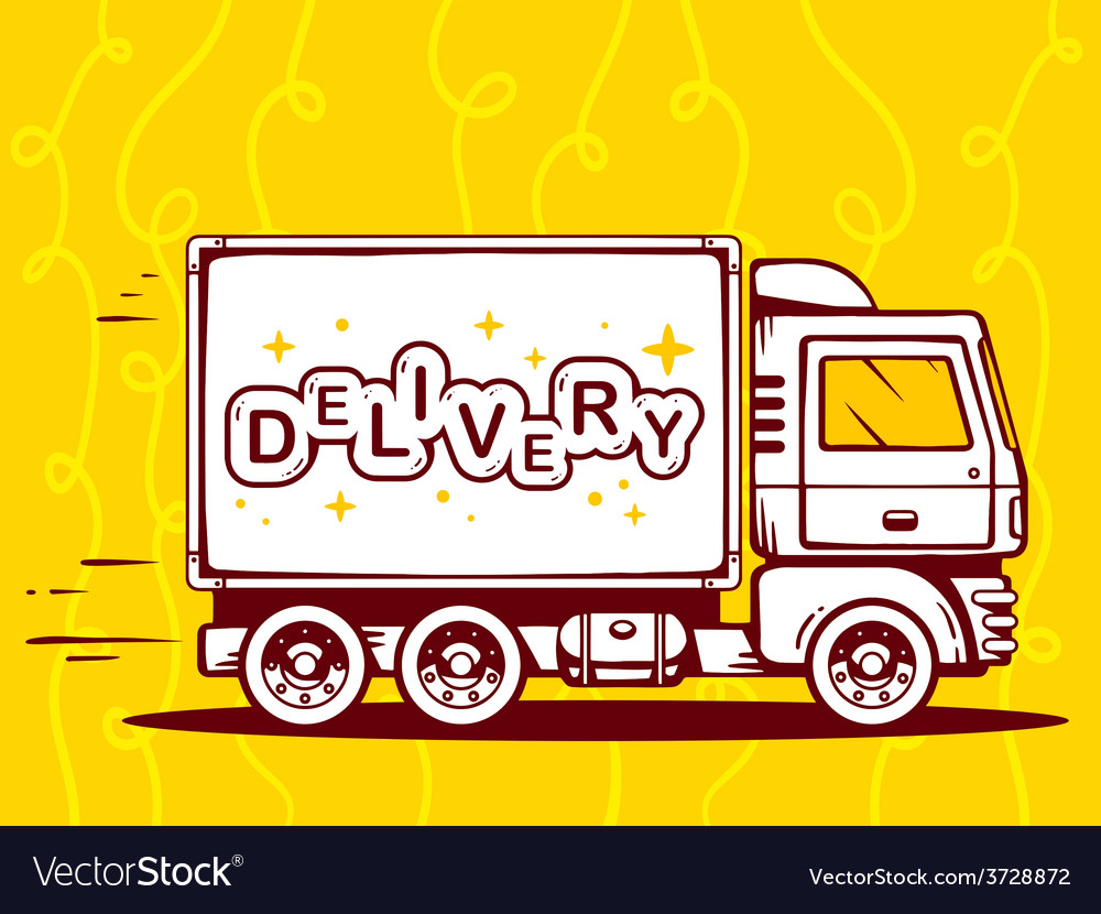 Truck free and fast delivery to customer vector | Price: 1 Credit (USD $1)