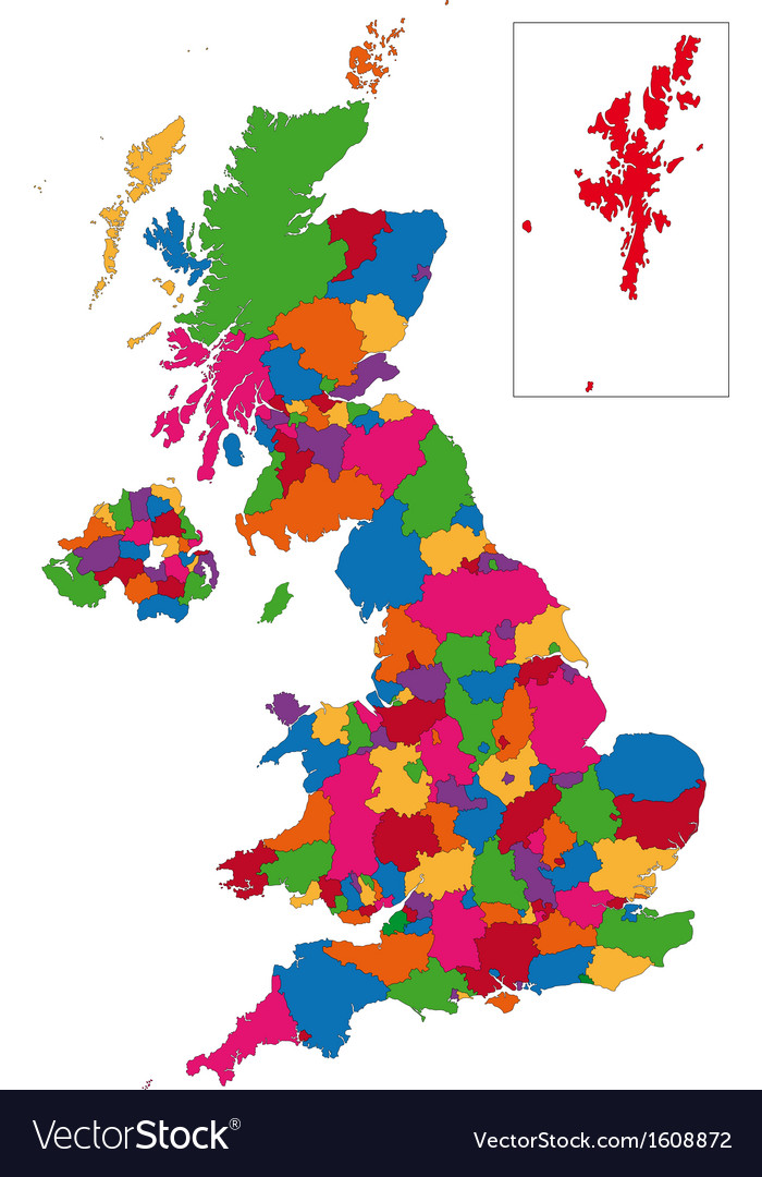 United kingdom map vector | Price: 1 Credit (USD $1)